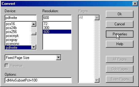 how to recreate pdf with distiller set to lowest file
